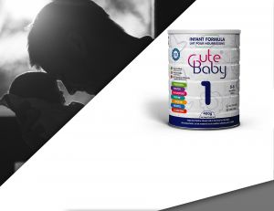 Cute Baby Infant Formula Manufactured by Dana Dairy
