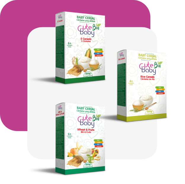 Organic baby cereal